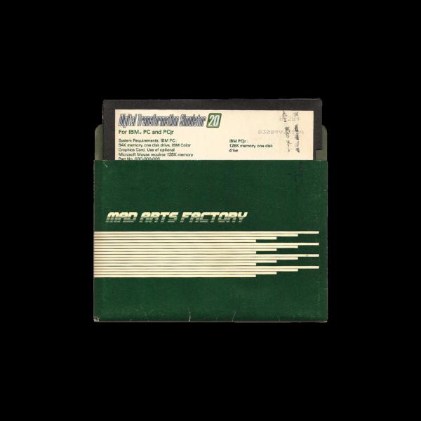 Digital Transformation Simulator 2020 5.25 Floppy Disk
